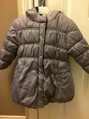 Vertbaudet Lilac Reversible Padded Winter Coat Girls  Quilted Years  (age 2-3)