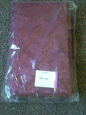 "5 x Burgundy Linen Cotton Tablecloth 90"" x 144"" - Dining, Kitchen, Banquet"