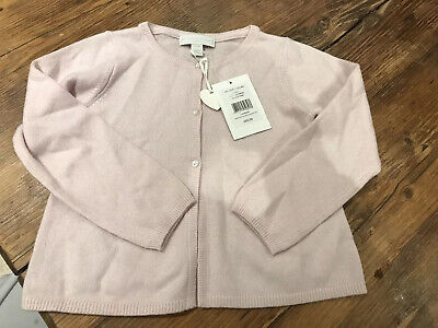 BNWT The Little White Company Girls Cashmere Cardigan In Whisper Pink 3-4 Years