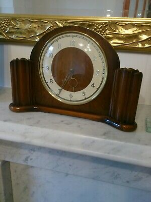 ANTIQUE SMITH art deco MANTEL  CLOCK  WIND UP  WORKING VGC