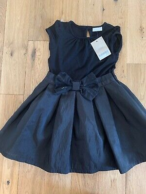 BNWT Little Girls Next black taffeta party dress age 1 1/2 - 2 years - 18 - 24 m