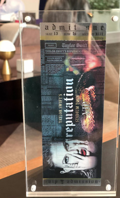 OFFICIAL Taylor Swift Reputation Stadium Tour VIP Holographic Collectors Ticket