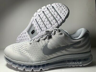Details about Mens Nike Air Max 2017 Running Shoes Size 8 WhiteWolf Grey 849559 101 $190