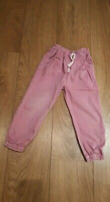 Tu   Girls Dusky Pink Symmer trousers Age 3_4 Years