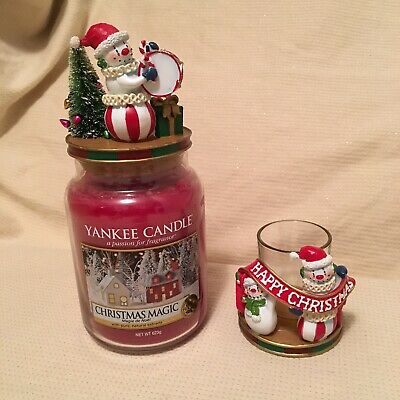 yankee candle christmas Circus Act Jar Topper & Votive Or Tea Light Holder