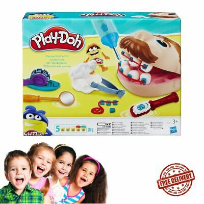 Doctor Drill 'N Fill Set Play-Doh, Kids Playing Fun Gift Present Multi-Colour