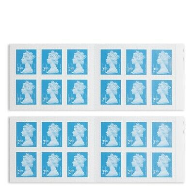 Royal Mail 24 x 2nd Second Class Standard Self Adhesive Stamps - Standard Blue