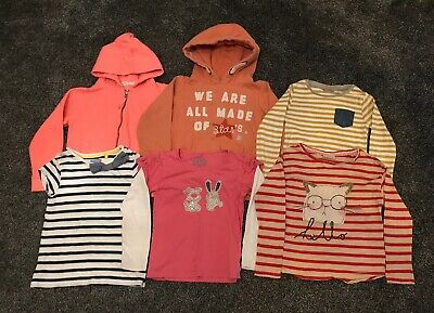 Next Assorted Bundle Of 6 Girls Tops, Hoodies & T-Shirt Age 7 Years