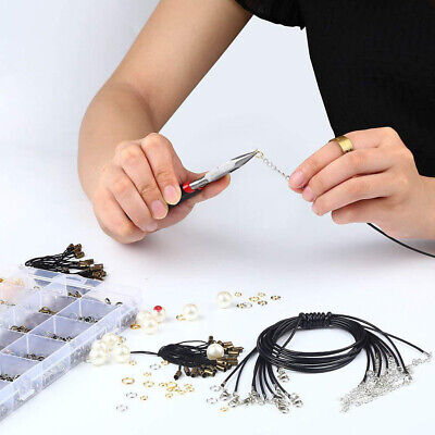 24 Grids DIY With Box Jump Ring Lobster Clasps Beading Craft Jewelry Making Kit