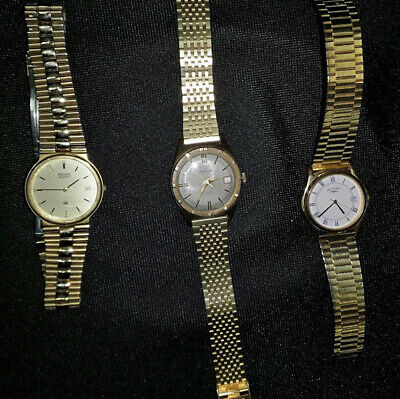 Group of used men's writst watches.
