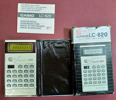 NEW (NOS) Vintage 1977 Casio LC-820 Yellow LCD Screen Calculator.