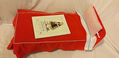 Genuine American Girl Doll Molly's Bed Bedroom Set Book Mattress Sheets Pillow
