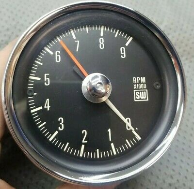 Vintage Stewart Warner mechanical cable drive tach 9k Tachometer clean!! Hotrod