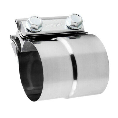 """Stainless Lap Joint Exhaust Clamp Sleeve Band For Hyundai Kia 2/"""" Exhaust OD Pipe"""