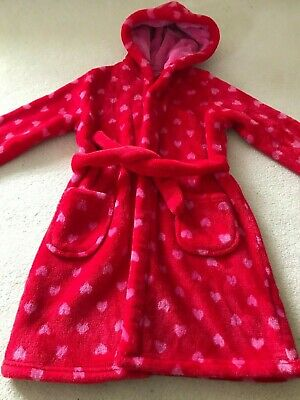 Gorgeous super soft Marks & Spencer girl's dressing gown Size 4-5 years VGC