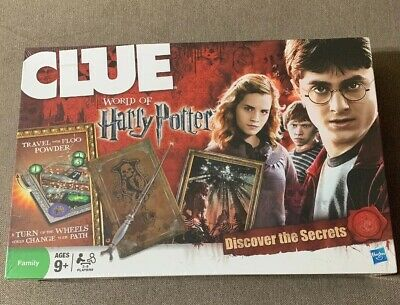 NEW Clue World Of Harry Potter Board Game Discover The Secrets 2011 Family