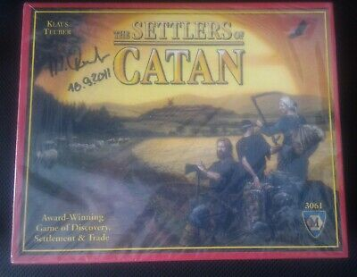 AUTOGRAPHED Settlers of Catan SIGNED Board Game Klaus Teuber Mayfair edition