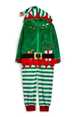 Primark Elf All In One Fluffy Soft Pyjamas Age 10-11 Unisex