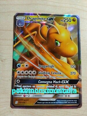 Carta Pokemon DRAGONITE GX 152/236 SINTONIA MENTALE IN ITALIANO FULL