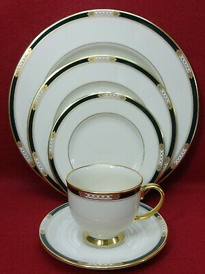 LENOX china HANCOCK pattern 5-piece Place Setting Cup Saucer Dinner Salad Bread