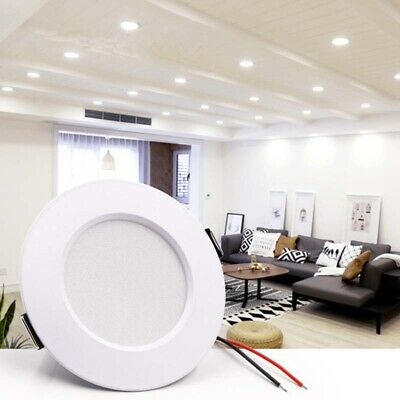 LED Lights Recessed Panel Spotlight Ceiling Downlight Home Wall Lamp Bulb 5-12W