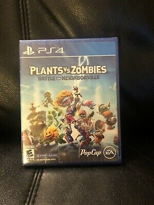 New Plants Vs Zombies Battle For Neighborville Playstation 4 Ps4 Sealed