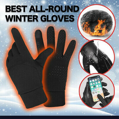 Men Women Winter Warm Gloves Windproof Waterproof Thermal Touch Screen Mitten ZE