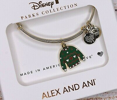 NEW Alex and Ani Disney Christmas Icon Holiday Ugly Sweater Gold Bracelet 2019