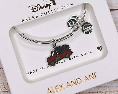 NEW Alex and Ani Disney Christmas Mickey Mouse Holiday Truck Silver Bracelet
