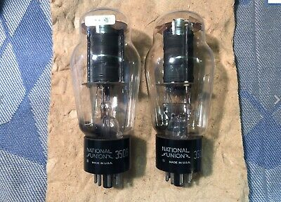 Western Electric 350B Tube Pair #2 Labeled National Union