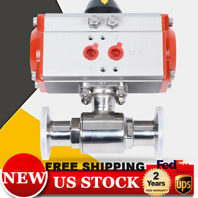 """1"""" Pneumatic Actuated Ball Valve Single Acting Air for Automatic Control System"""