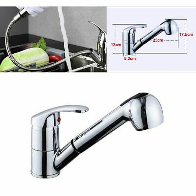 Pull-Out Spray Kitchen Faucet Swivel Spout Sink Single Handle Mixer Filler Taps