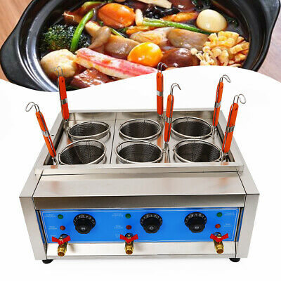 Commercial 6Hole Noodles Cooker Electric Pasta Cooking Machine Pasta Marker USA