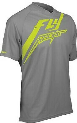 Fly Racing Action Shirt Grey/Yellow Small / 352-0416S