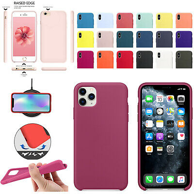 For Genuine Silicone Case iPhone 11 Pro X XR XS MAX 8 7  6 Liquid Rubber Cover