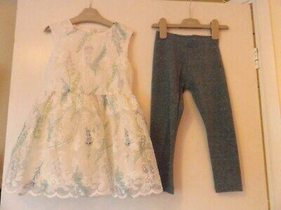 Next outfit / set pretty dress and leggings aged 4 years