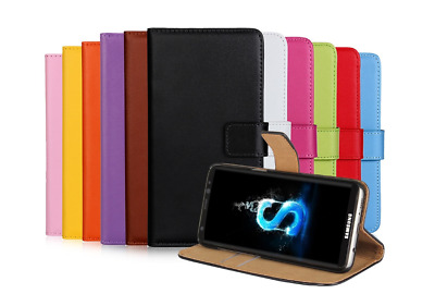 Samsung Galaxy Case - S8 S9 S9plus Magnetic Wallet Leather Case Flip Stand Cover