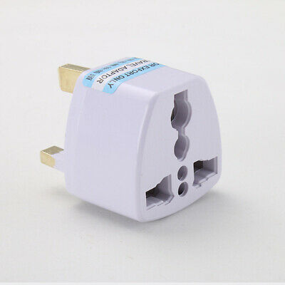 3pin AC 250V 10A 8000W UK Power Plug Adaptor Socket Plug Converter Port-able New