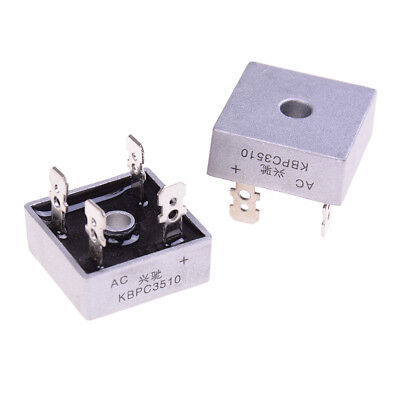 2Pcs bridge rectifier kbpc3510 amp metal case - 1000 volt 35a diode L_D YFMA