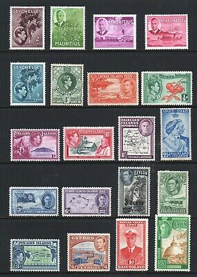 King George VI - Commonwealth Stamps Selection X 20