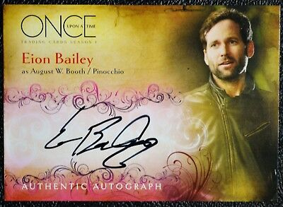 Once Upon a Time A5 Eion Bailey as Pinocchio Autograph Auto Trading Card Disney