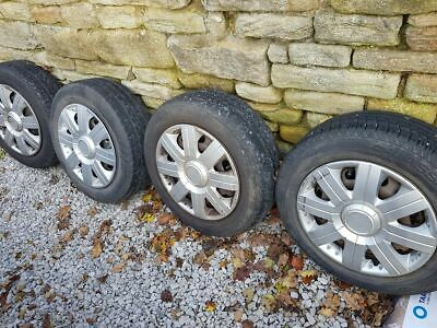 """Ford Fiesta steel wheels 14"""" with trims x4"""