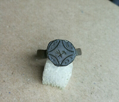 Early Medieval Crusader Templar Knight's Bronze Ring stylized Star of Bethlehem