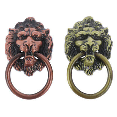 Furniture Handles Beast for Lion Head Antique Alloy Handle Hardware Pull  BH