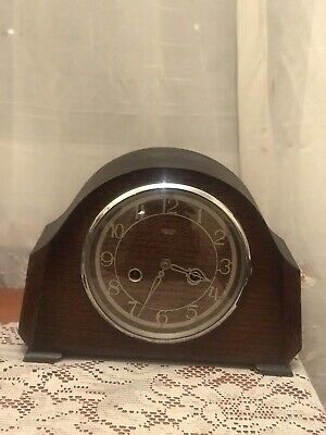 Smith Enfield 8 day Mantel Clock Model Langley striking ½ & full hour serviced