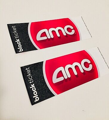2 AMC Movie Theater Black Ticket Vouchers
