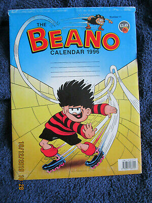 Beano Calendar 1996 Unmarked, With Original  Envelope