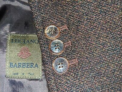 Luciano Barbera Unconstructed Colorful Fleck Tweed Patch Pkts Coat Jacket 42R 52