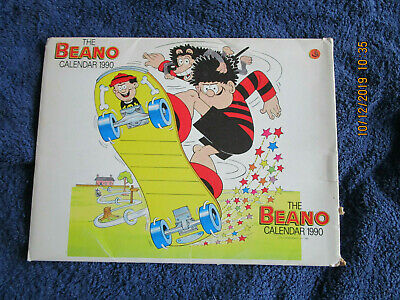 Beano Calendar 1990 Unmarked With Original Envelope