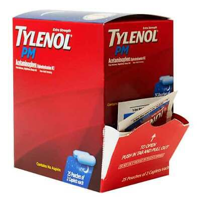 Tylenol PM  Extra Strength Pain Reliever Caplets (25 pouches of 2 caplets)